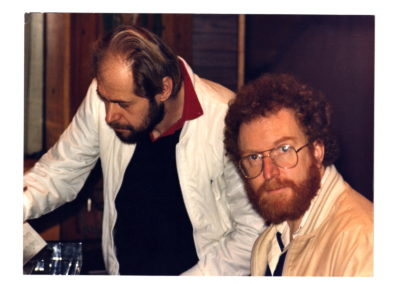 Me with Mo Foster at Landowne studios 1982